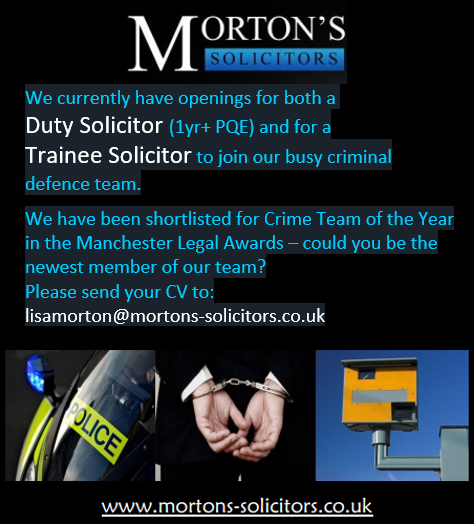 We Are Hiring – Duty Solicitor and Trainee Solicitor