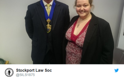 Congrats to Simon Morton, New President of Stockport Incorporated Law Society 1875