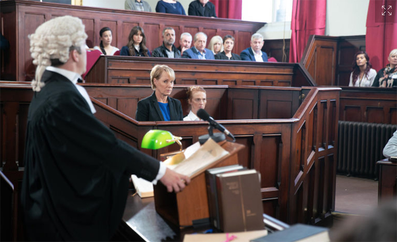 Sally Webster in Court - faces prison sentence
