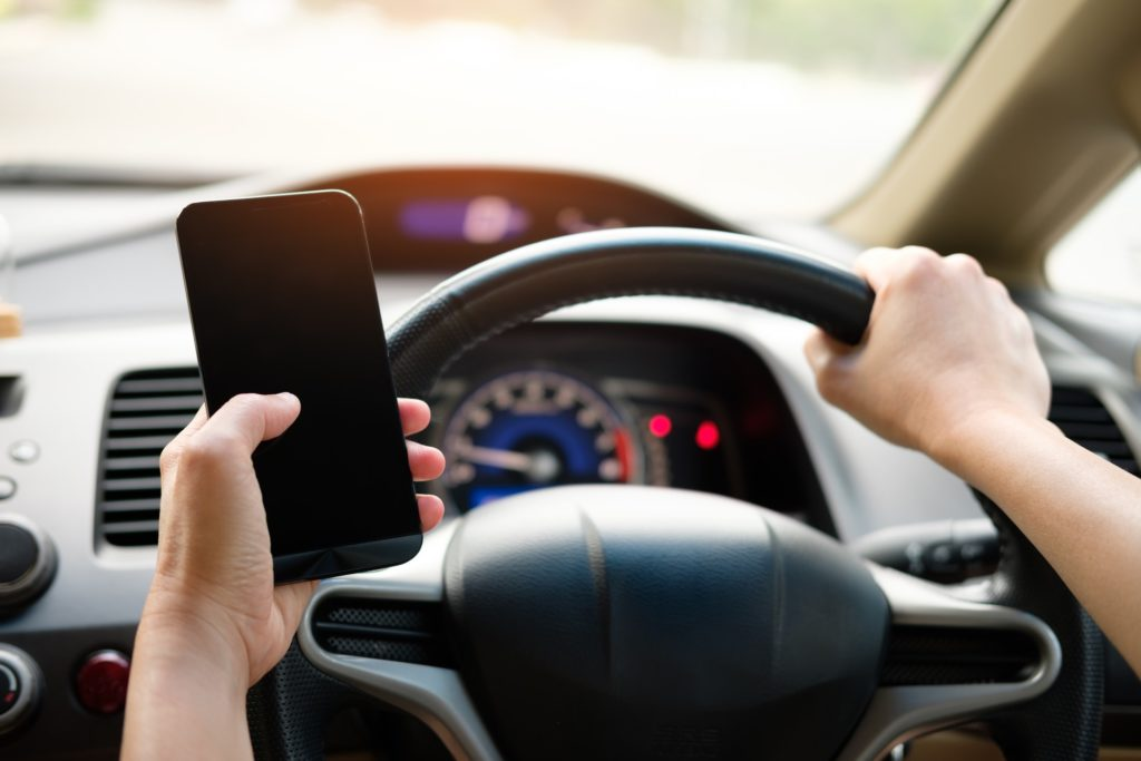 using mobile phones whilst driving