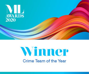 Winner - crime team of the year MLA 440x330