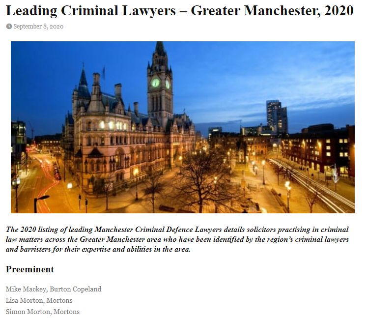 Doyles Guide - leading criminal lawyers in Manchester.